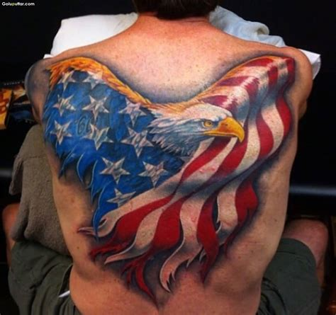 american flag back tattoos army flag tattoos and photo ideas page 2