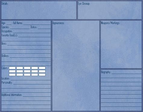 character template sheet search results for character reference sheet template