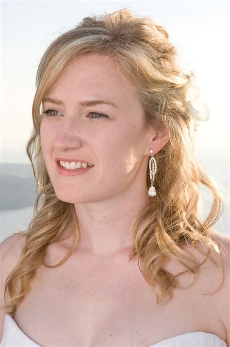 Wedding Hair And Makeup Ri by Santorini Weddings Wedding Hairstyle Pictures