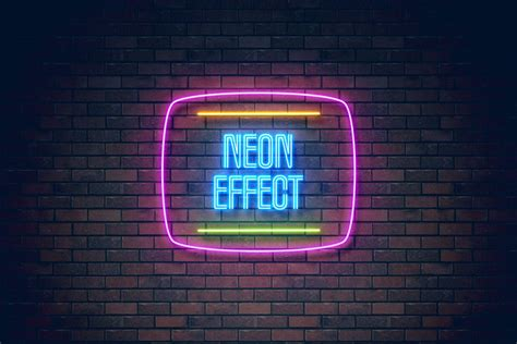 How To Create A Realistic Neon Light Text Effect In Adobe Photoshop Neon Sign Photoshop Template
