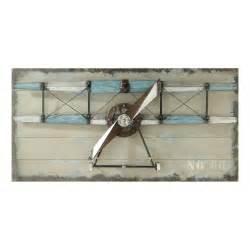 d 233 co murale avion en bois grise 60 x 120 cm carlingue