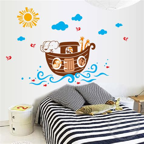 Wall Sticker Baby Shower ship bathroom decor sticker baby shower decoration wall sticker for room nursery decor