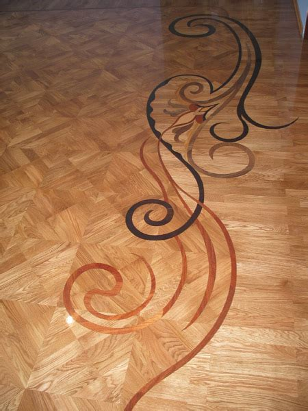 Example of Hardwood or Stone floor Medallion, Borders