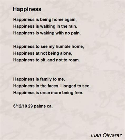 happiness poem by juan olivarez poem hunter