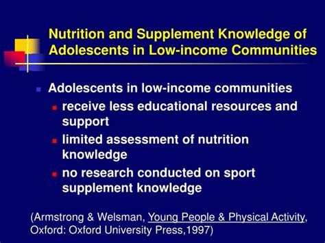 supplement knowledge ppt effect of sport nutrition education in high school