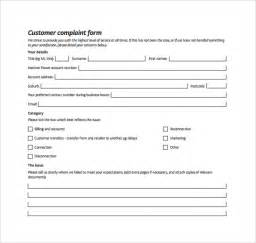Customer Complaint Procedure Template by Sle Customer Complaint Form Exles 7 Free