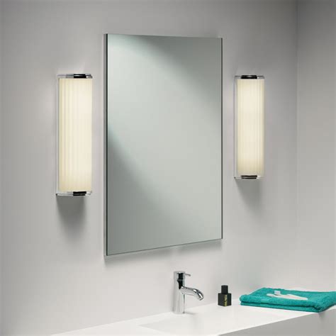 bathroom mirror lighting fixtures astro lighting monza plus 400 0915 polised chrome bathroom wall light