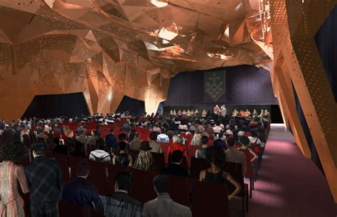 striking visual perspectives unveiled by the edge house in krak w winning design for uts great hall unveiled australian