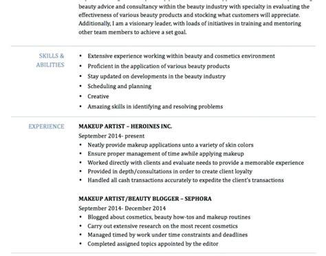 43 best of pics of makeup artist resume samples resume templates