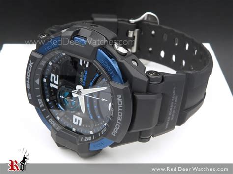 G Shock Gwa 1100 Black Blue 2 buy casio g shock gravity defier compass thermometer sport