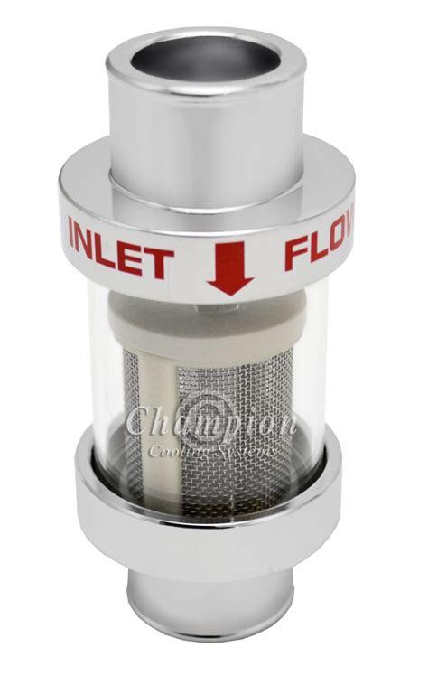inline radiator hose coolant filter champion radiators