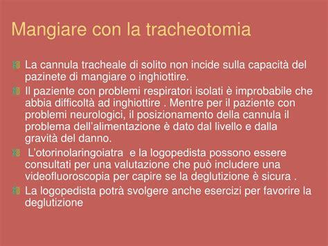 tracheotomia alimentazione ppt ruolo fisioterapista e logopedista