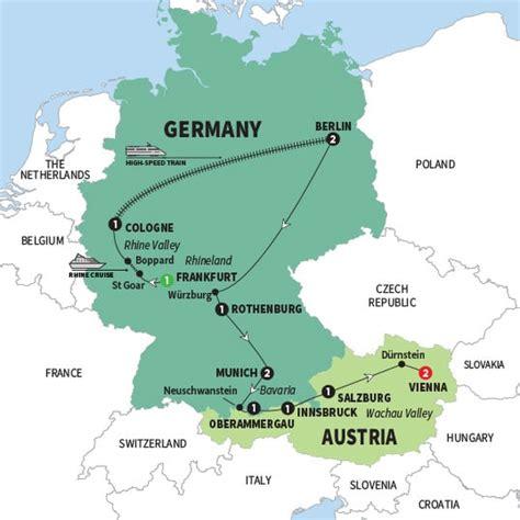 map netherlands germany switzerland best of germany and austria trafalgar
