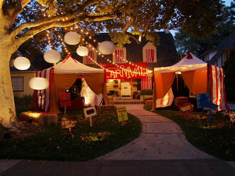 halloween show themes creepy carnival tents for an outdoor halloween theme