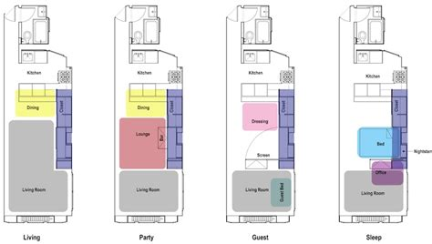 compact floor plans another transforming convertible small apartment with