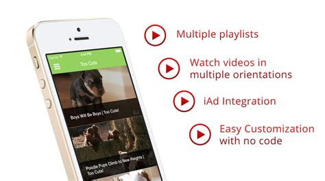 youtube video player iphone app template