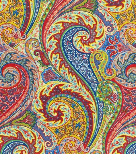 colorful upholstery fabric upholstery fabric williamsburg jaipur paisley jewel jo ann