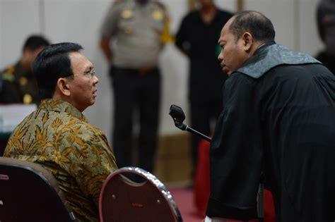 ahok sentence prosecutors postpone reading of sentence demand against