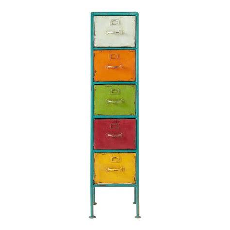 wandschrank bunt colonna portatutto multicolore in metallo h 128 cm mojito