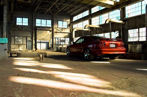 mustang warehouse abandoned warehouse sn95 photoshoot