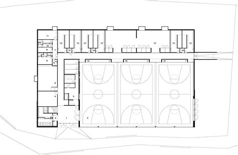 Train Floor Plan by Gallery Of Lussy Sport Hall Virdis Architecture 17