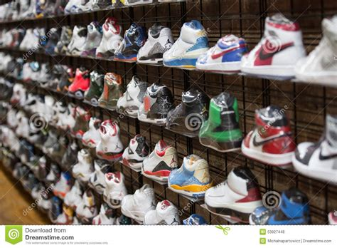 sport shoes usa store sneakers and sport shoes editorial stock photo image of