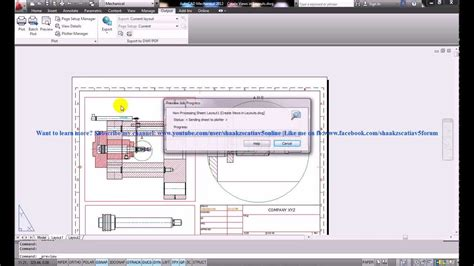 tutorial autocad mechanical autocad mechanical tutorial create model views in layout