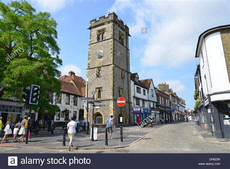 house to buy in st albans 15th century st albans clocktower market place st albans stock photo royalty free