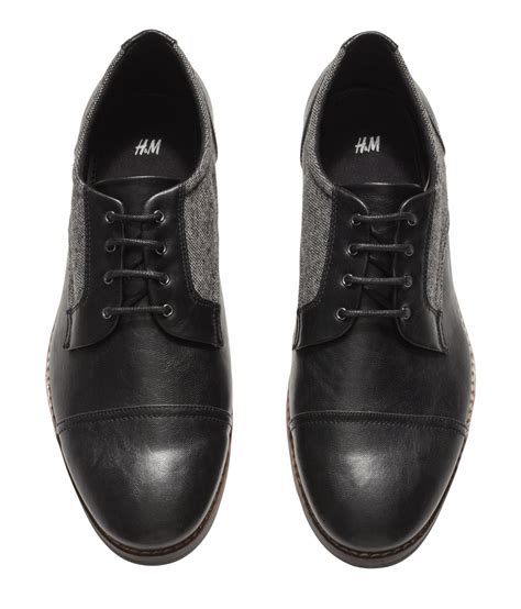 m and s shoes h m derby shoes in black for lyst