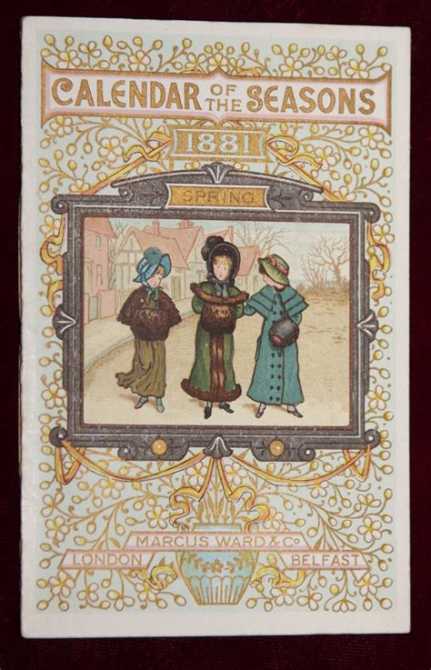 green bay illustrated classic reprint books exrare kate greenaway 1881 1st calendar of seasons amazing