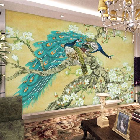 vintage wall murals vintage home decor wallpaper mural tv background peacock wallpaper peacock wall mural
