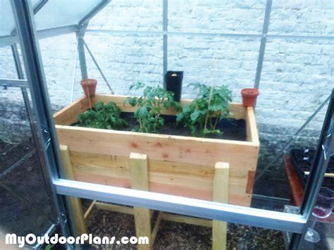 Waist High Raised Garden Bed Plans by Diy Waist High Planter Myoutdoorplans Free Woodworking