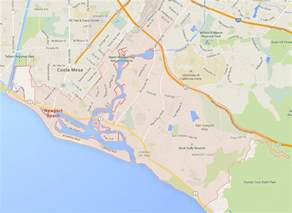 map newport california newport california map