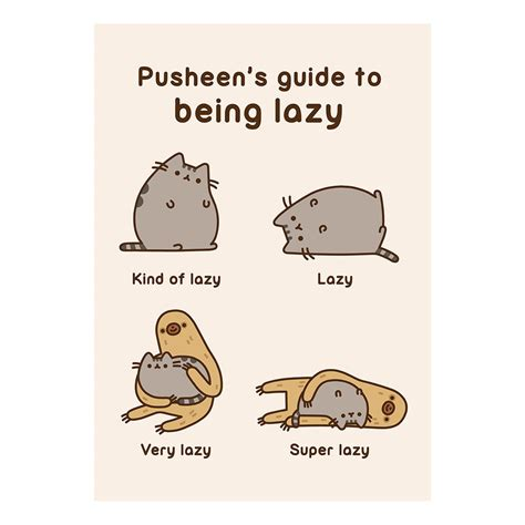 Gift Guide Greeting Cards by Pusheen Guide To Being Lazy Greeting Card Birthday Gift