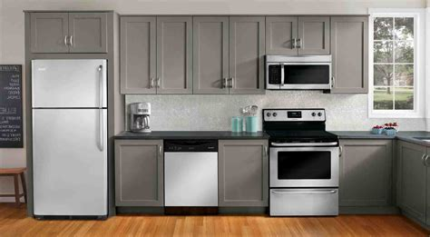white kitchen cabinets with stainless appliances grey kitchen cabinets with stainless steel appliances