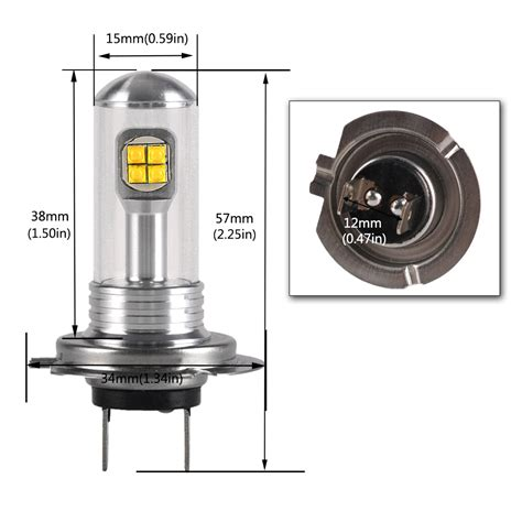 Led Fog Lights Bulbs Nighteye H7 80w 12v Led Car Driving Bulb Fog Lights L Xenon White Universal Ebay