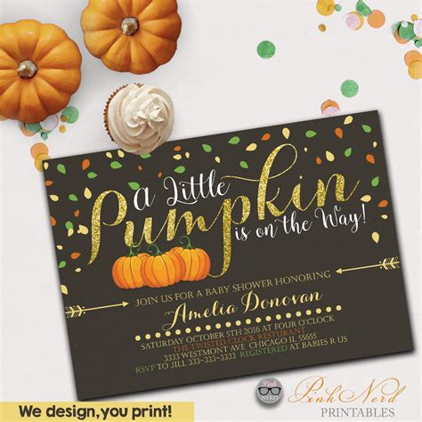 Fall Baby Shower Invites by A Pumpkin Baby Shower Invitation Fall Theme