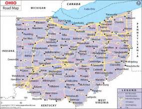 Ohio Road Map by Ohio Road Map Http Www Mapsofworld Com Pinterest