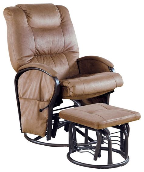 Monarch Specialties 2 Piece Swivel Rocker Recliner Chair