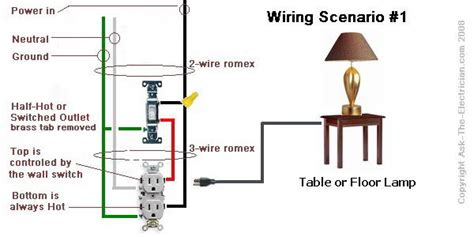 switched outlet wiring diagram how to wire a 2 switch electrical outlet