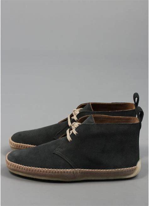 clarks originals desert drille denim blue suede boots triads