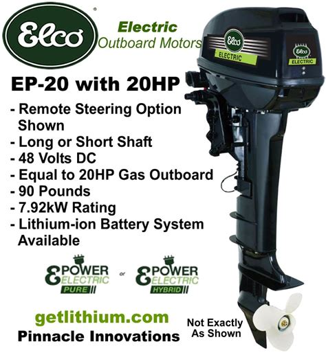 electric boat outboard elco motor yachts ep 20 48 volt 20 hp electric outboard