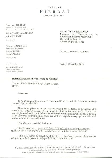 Exemple Lettre Mise En Demeure Impayé Modele Mise En Demeure Avocat Document