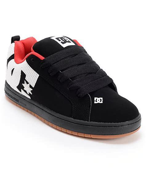 Sket Dc Black White dc court graffik black white skate shoes zumiez