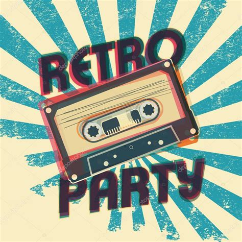 party music retro party music poster design with vintage style and