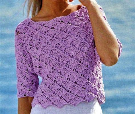 pattern maglia ai ferri crea un pull ajour traforato con i nostri schemi maglia