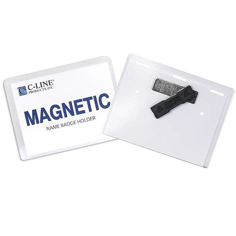 printable magnetic name tags amazon com c line pin style name badge holders with