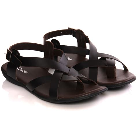 Mens Handmade Sandals - unze mens nabi handmade leather flat summer