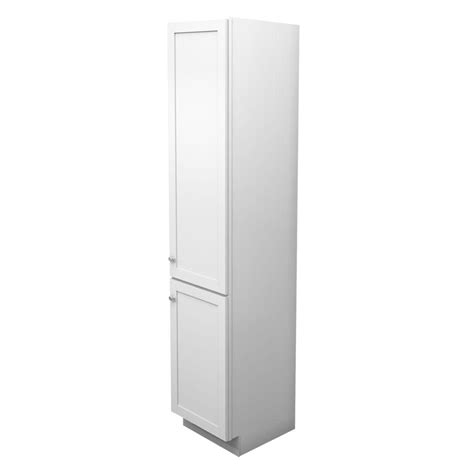 white linen cabinets for bathroom kraftmaid 18 in w x 88 1 2 in h x 21 in d vanity