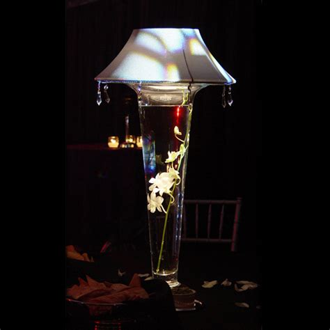 Lighted Vases by Lighted L Shade And 24 Quot Glass Vase Grand Rental